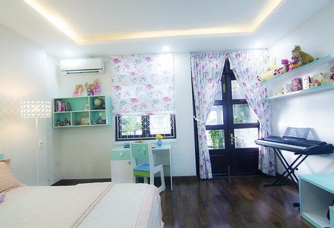Sửa chữa cải tạo nhà với phòng ngủ của cô con gái nhỏ, nội thất xinh xắn, màu sắc cũng đa dạng, tươi trẻ.