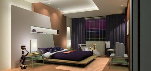 Nội thất thiết kế hiện đại căn nhà tiết kiệm diện tích với giường phản bệt.