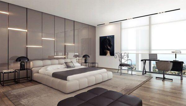 Thiết kế nội thất nhà chung cư với hệ cửa sổ lớn giúp căn phòng tràn ngập ánh sáng