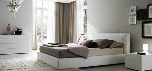 Cải tạo nhà sửa chữa phòng ngủ đẹp, trang nhã với tông màu trắng chủ đạo.