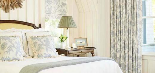 Sơn phòng ngủ nhỏ nhưng rất thanh bình, ấm cúng, với tông màu vàng nhạt.