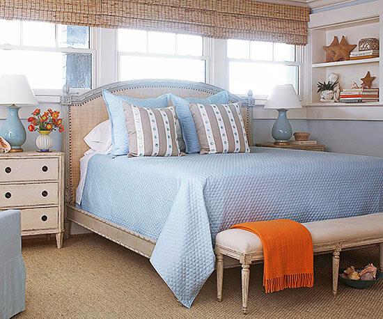 Sơn phòng ngủ, bình yên với những gam màu dịu nhẹ.