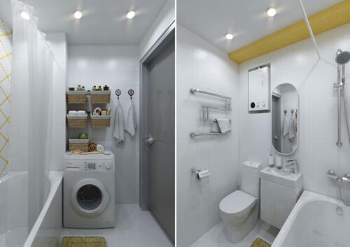 Phòng tắm nhỏ, tông màu trắng, tạo cảm giác rộng rãi, nội thất hiện đại, tiện nghi đầy đủ, sau sơn sửa nhà chung cư.