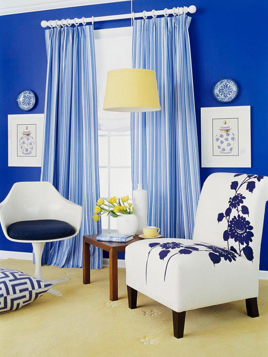 Sơn sửa phòng khách đẹp, thêm ấn tượng với sắc xanh.