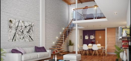 Một góc thư giãn kiêm nơi tiếp khách thân mật trên tầng lửng của mẫu nhà đẹp này, là một ý tưởng bài trí căn hộ đáng tham khảo.