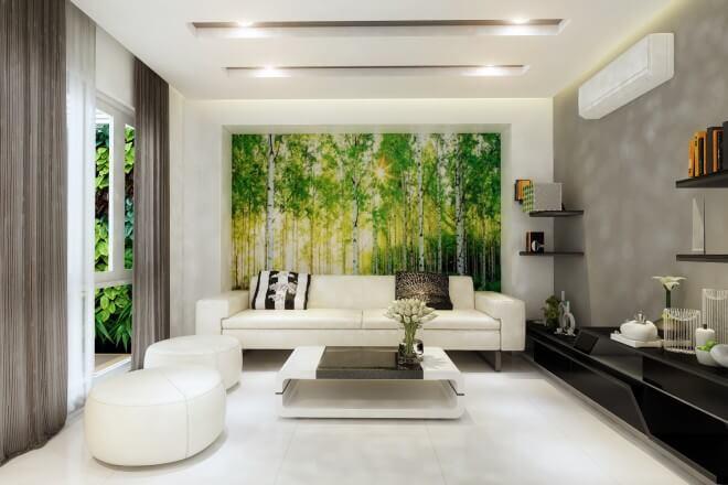 Phòng làm việc riêng được thiết kế với những chi tiết trang trí thanh mảnh, kết hợp tiếp khách trong phòng làm việc được trang trí với tông màu trắng thanh lịch.
