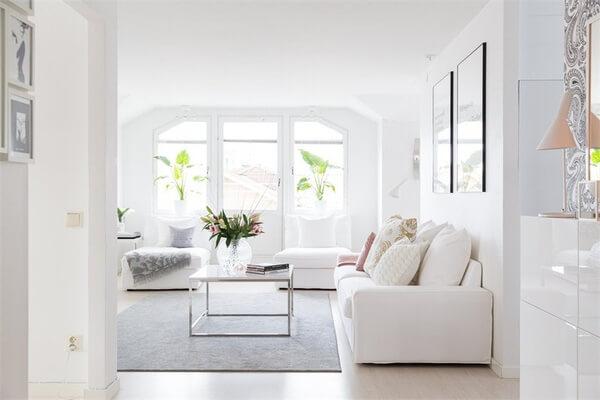 Thiết kế nội thất nhà chung cư, giúp căn nhà luôn tràn ngập ánh sáng tự nhiên.