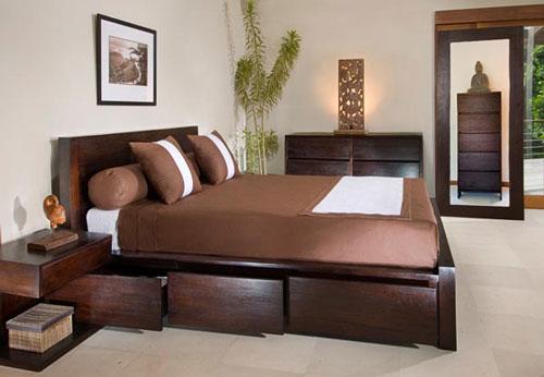 Phòng ngủ nhà chung cư sẽ tăng diện tích khi sử dụng giường có ngăn kéo.