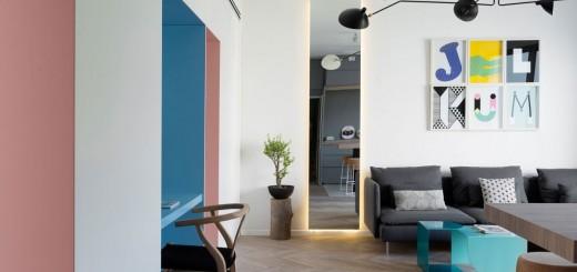 Sửa nhà gồm 2 phòng ngủ được ngăn cách bởi 1 phòng tắm, không có tường và hành lang.