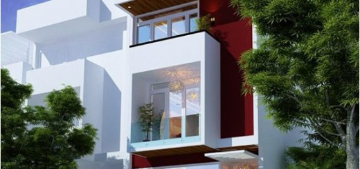 Với mẫu nhà sơn đẹp này có thiết kế kiểu nhà phố dùng làm văn phòng, với tầng trệt để xe, hệ thống cửa tạo nên không gian làm việc thoáng đãng