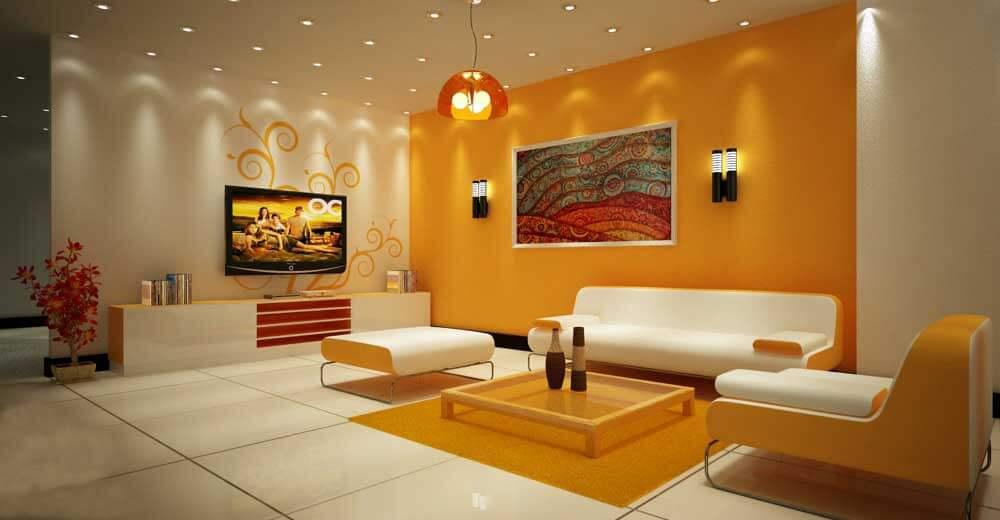 Màu sắc sơn nội thất màu cam, đen và đỏ là những gam màu có cá tính rất mạnh.
