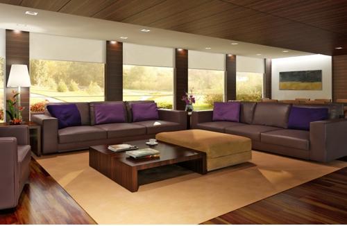 Đối với những người yêu thích sự sâu lắng thì màu sơn nội thất như nâu đất, tía và màu xanh lá là sự lựa chọn tối ưu nhất bởi những gam màu này.