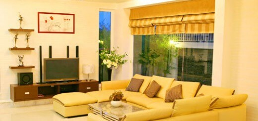 Sơn phòng khách tông vàng chanh, kết hợp bộ sofa màu vàng chanh thế này cũng đủ để làm cho phòng khách nhà bạn rạng rỡ hơn bao giờ hết.
