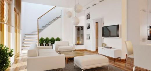 Sửa nhà phố với không gian phòng khách thông thoáng, tiện nghi, hiện đại.