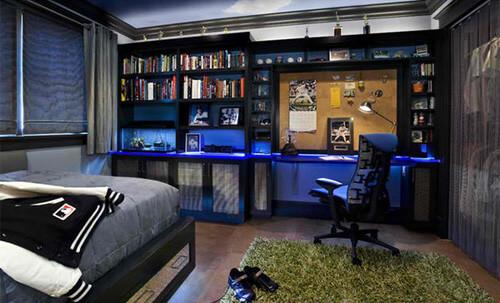 Thiết kế nhà phố 3 tầng, với căn phòng đầy cá tính dành cho con trai.