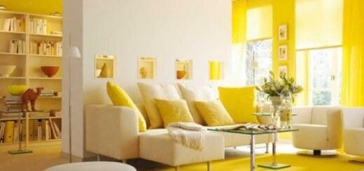 """Thiết kế nội thất nhà màu vàng giúp """"che giấu"""" sự thật về diện tích phòng."""