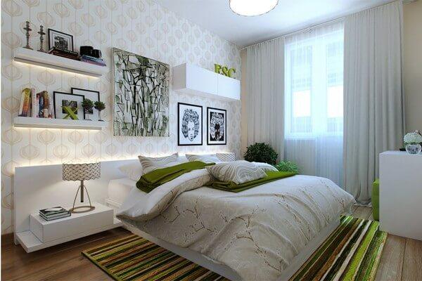 Phòng ngủ con đầy cá tính và hiện đại, sau cải tạo nhà chung cư này.