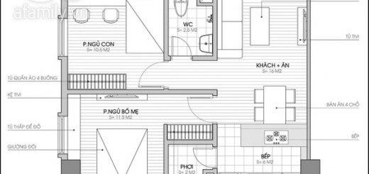 Mặt bằng tư vấn cải tạo sửa chữa nhà và bố trí nội thất.