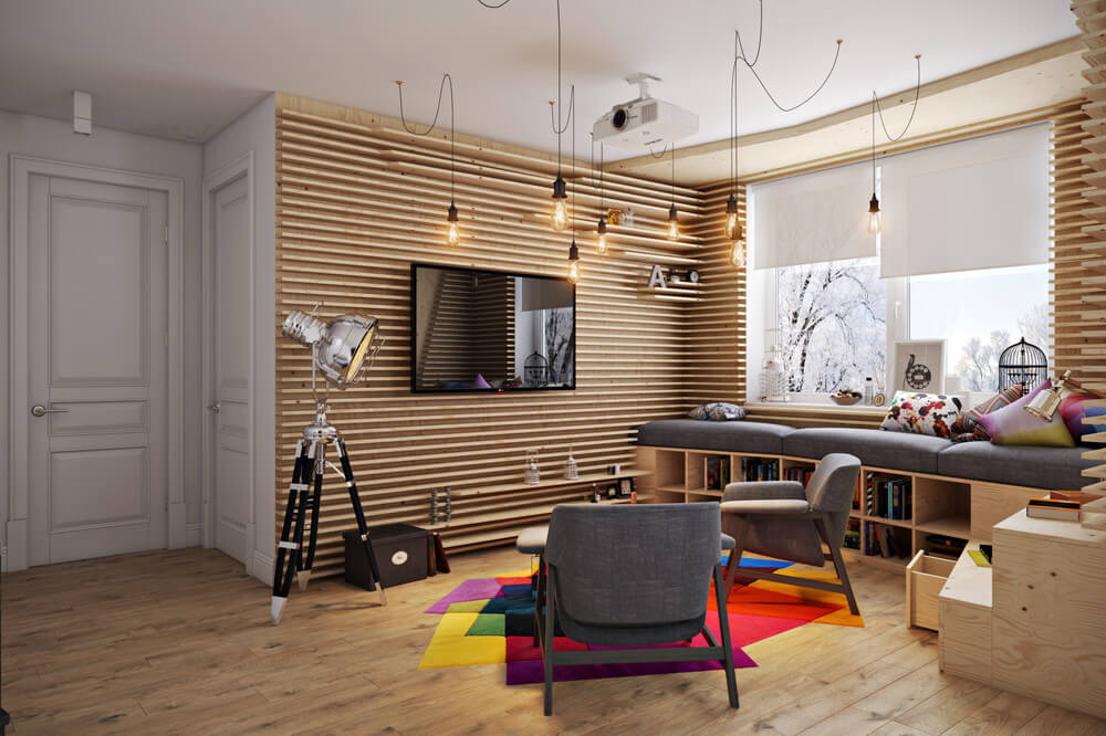 Vẻ đẹp độc đáo của mẫu chung cư sơn đẹp khiến mọi người phải choáng ngợp ngay khi đặt chân vào căn phòng.
