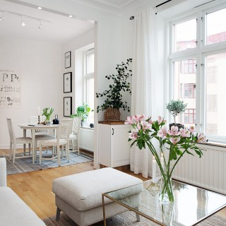Mẫu chung cư sơn đẹp, thiết kế theo phong cách vùng Bắc Âu đầy hấp dẫn, là lựa chọn thích hợp cho những bạn trẻ độc thân yêu thích không gian sống thoải mái, hiện đại.