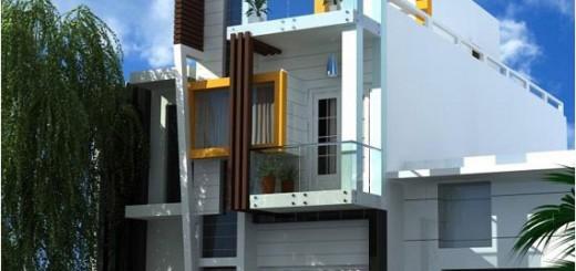 Điểm nhấn của mẫu nhà phố đẹp này đó chính là những kiến trúc lạ mắt tạo nên sự cách điệu.