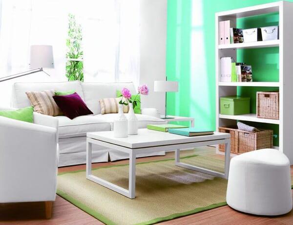 Màu sơn nhà xanh lam thư giãn rất hợp với phòng của nam giới.