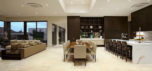 Sắc thái sơn nhà đa dạng được sử dụng để phân định từng không gian.