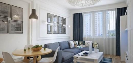 Thiết kế nội thất nhà chung cư, phòng khách, nội thất tối giản, tạo ra không gian thông thoáng.