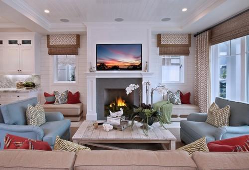 Nếu bạn ưa thích sự trang nhã thì nên thiết kế nộ thất phòng khách theo cách trang trí này.