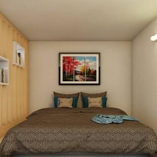Phòng ngủ vẫn rộng rãi đủ cho 2 người, sau khi cải tạo nhà trọ này.