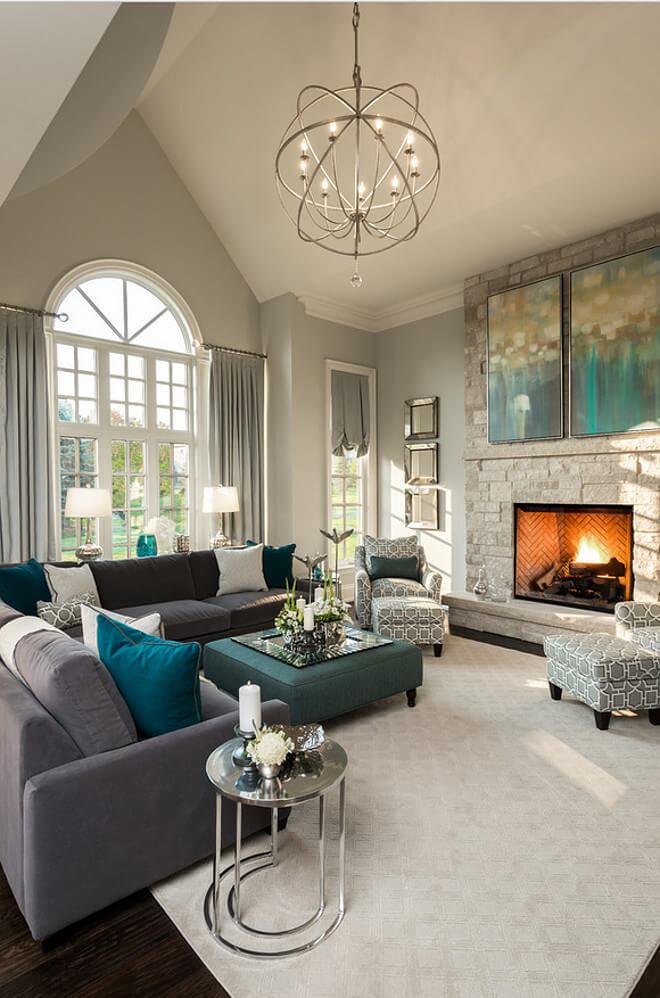 Mầu sơn ghi xám tạo thêm phong cách cho ngôi nhà