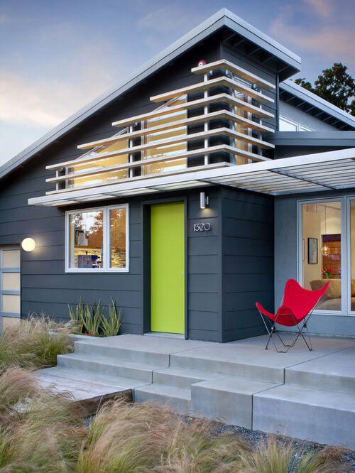 Xanh thẫm là mầu sơn nhà đẹp năm 2016 sẽ lên ngôi