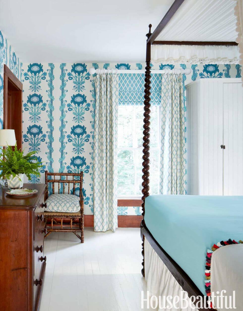 Mỗi tông xanh mang đến một hiệu ứng khác nhau. Ở không gian nhà đẹp trên, xanh baby mang đến nét yên bình và thân thiện thay vì sang trọng và vương giả so với xanh coban.