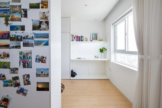 Phòng làm việc và phòng thay đồ cạnh phòng ngủ tiện lợi