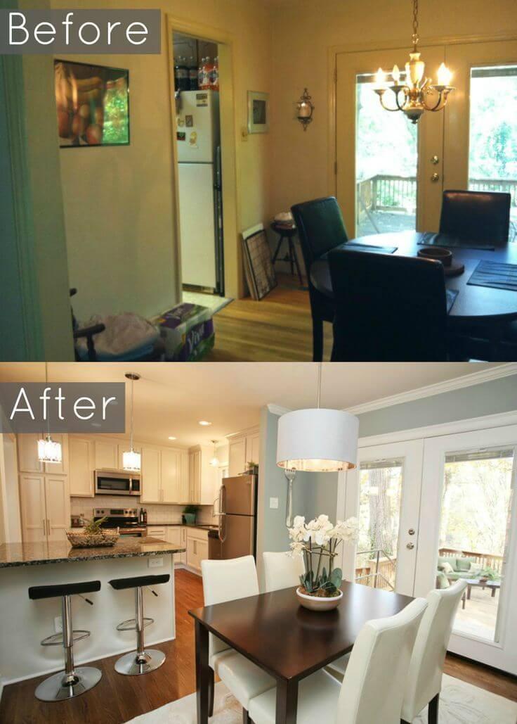 Thiết kế nhà với phòng khách kết hợp phòng ăn nhỏ nhưng hiện đại