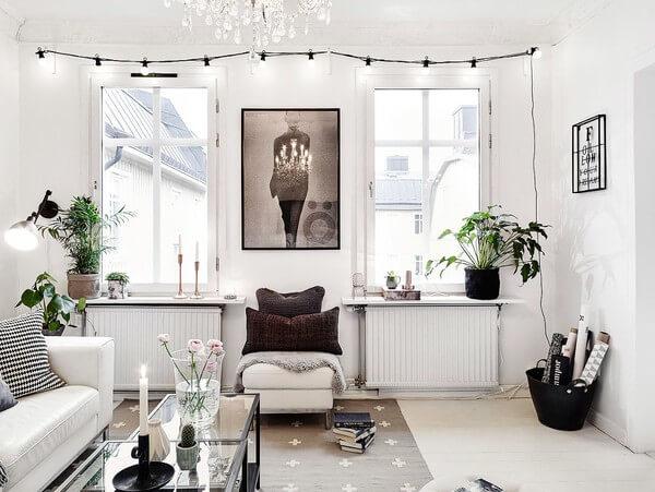 Phòng khách nhà chung cư với thiết kế thanh lịch, hiện đại và sang trọng.
