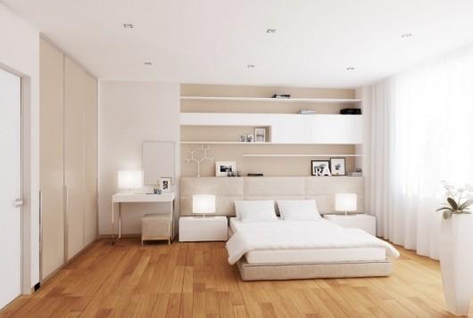 Sử dụng mầu sáng tạo cảm giác phòng ngủ rộng hơn