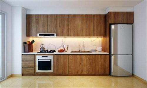 Căn bếp là nơi Lam Trường yêu thích hơn cả bởi đó là nơi anh và các thành viên trong gia đình có thể gặp gỡ, trò chuyện và thưởng thức bữa ăn cùng nhau.