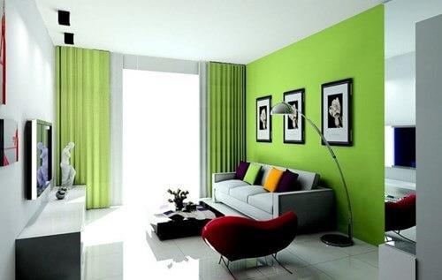 Image result for sơn nhà màu xanh lá