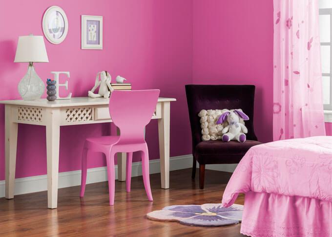 sơn phòng ngủ đẹp với mầu hồng hiện đang rất được ưa chuộng