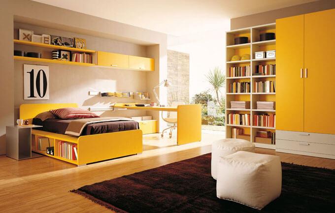 sơn phòng ngủ đẹp với mầu nắng vàng ấm cúng phù hợp sơn phòng ngủ bố mẹ
