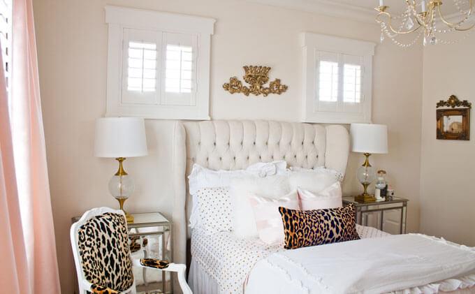 sơn phòng ngủ đẹp với mầu trắng sáng