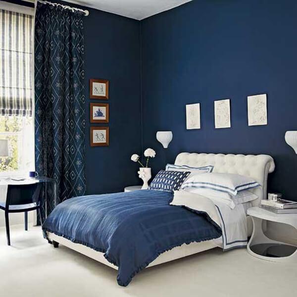 sơn nhà với màu xanh nước biển