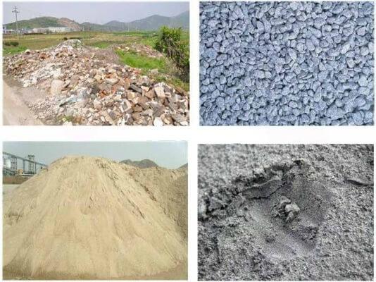 Cát – đá – sỏi đều là những loại vật liệu xây dựng thông dụng