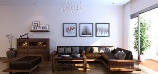 Sửa chữa nhà chung cư đẹp với gỗ óc chó