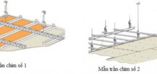 Phương pháp thi công trần thạch cao -hệ trần chìm