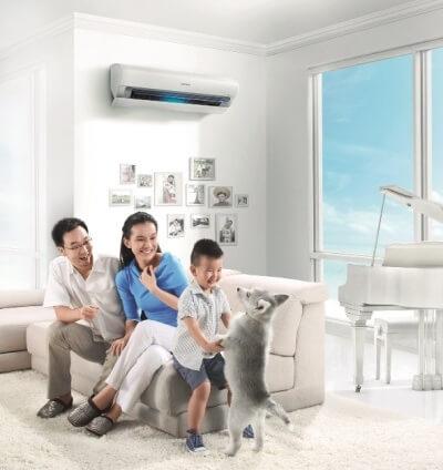 Trang bị máy điều hòa để chống oi nóng mùa hè