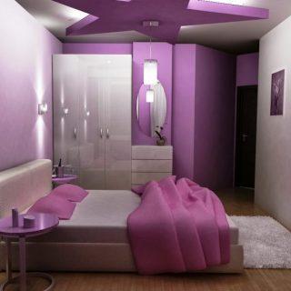 sơn nhà màu tím đẹp huyền ảo