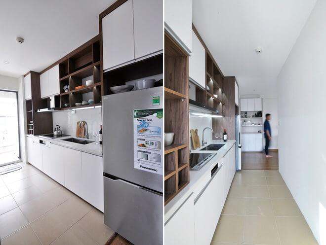 Cải tạo khu nhà bếp chung cư 58 M2 đầy đủ tiện nghi