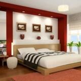 kết hợp màu sơn nhà đẹp đỏ trắng